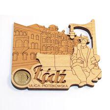 Magnes z groszem z Łodzi